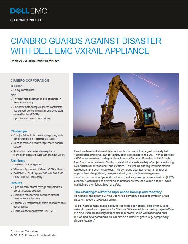 Cianbro Case Study 2017 VxRail